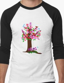 Spring tree with blossoms Men's Baseball ¾ T-Shirt