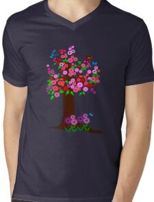 Spring tree with blossoms Mens V-Neck T-Shirt