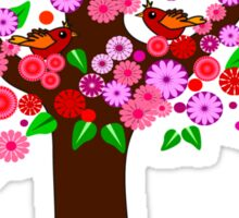 Spring tree with blossoms Sticker