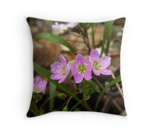 Spring Beauty in the Watershed Throw Pillow
