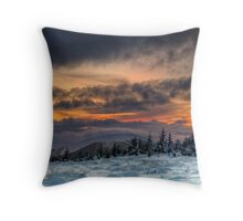 Winter on the hill Throw Pillow