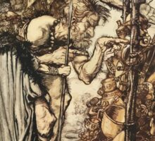 The Rhinegold & The Valkyrie by Richard Wagner art Arthur Rackham 1910 0135 Hey Come Hither Stop Me This Cranny Sticker
