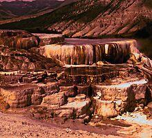 Mammoth Terraces - Yellowstone 1976 by Al Bourassa