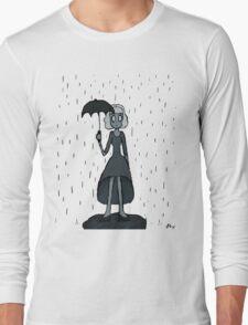Gloomy Girl in Rain T-Shirt