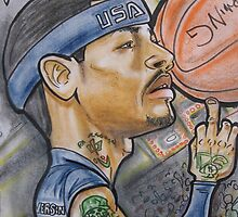 Allen IVERSON caricature by Aestheticz .