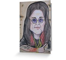OZZY caricature Greeting Card
