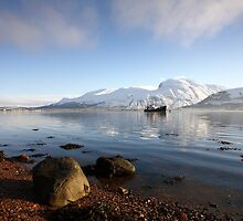 Ben Nevis & Loch Linnhe in winter by John Cameron