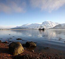 Ben Nevis & Loch Linnhe in winter by John Cameron
