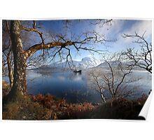 Ben Nevis & Loch Linnhe in winter. Poster