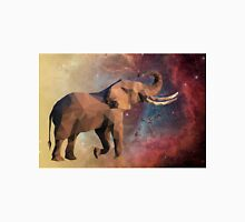 Low Poly Elephant in Space with Nebula Unisex T-Shirt