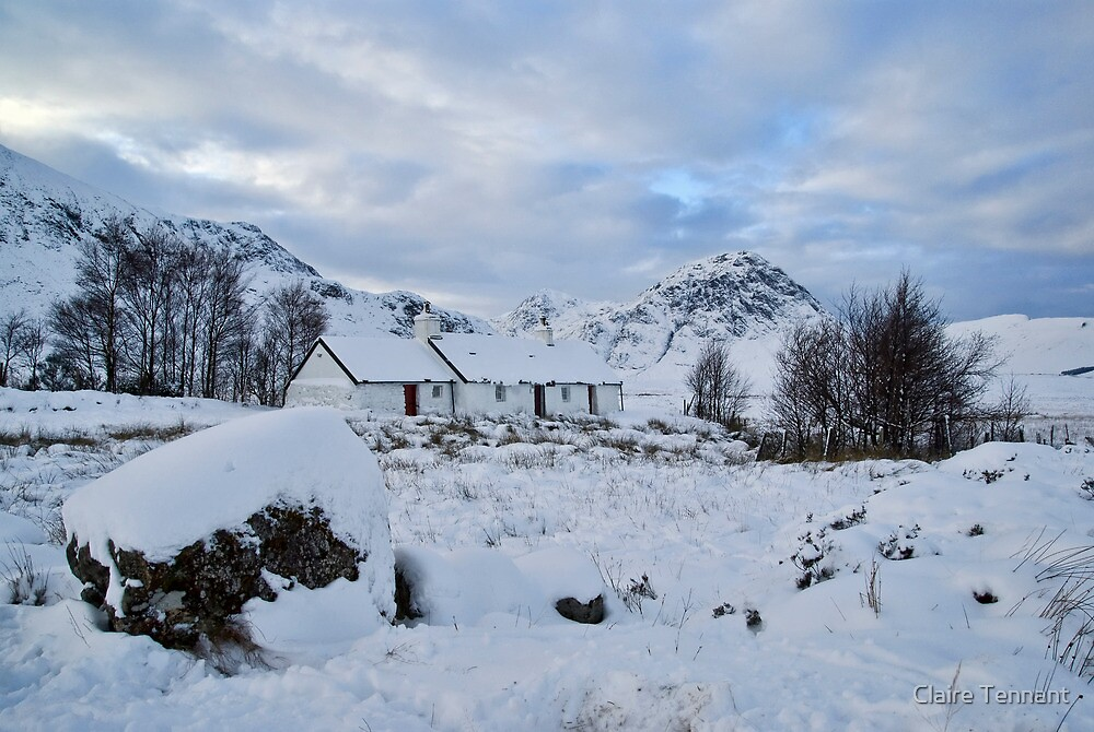 Blackrock Cottage in the Snow by Claire Tennant