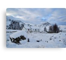 Blackrock Cottage in the Snow Canvas Print