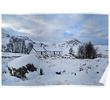 Blackrock Cottage in the Snow Poster
