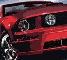 red mustang Sticker