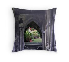 Garden at the end of the walk Throw Pillow