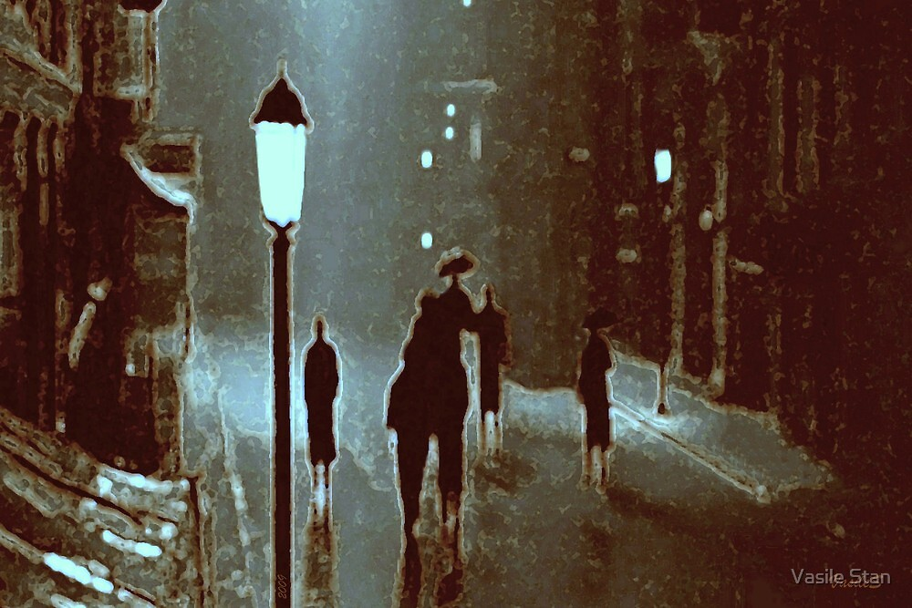 Snow walking and the nostalgia of light from the past by Vasile Stan