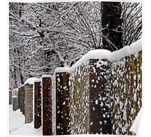 Winter fence Poster