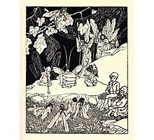 The Zankiwank & the Bletherwitch by Shafto Justin Adair Fitz Gerald art Arthur Rackham 1896 0055 Music Photographic Print