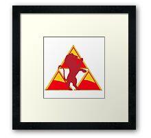 Gryffindor Triforce Framed Print