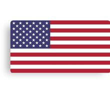 """The national flag of the United States of America -  Authentic 10:19 """"G-spec"""" (for """"government specification"""" ) Scale and colors Canvas Print"""