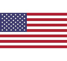 """The national flag of the United States of America -  Authentic 10:19 """"G-spec"""" (for """"government specification"""" ) Scale and colors Photographic Print"""