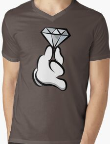 Diamond Hand Mens V-Neck T-Shirt