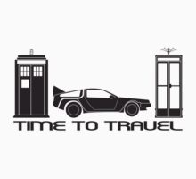 Time to Travel (Black) by innergeekdesign