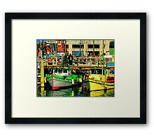 Fisherman's Wharf Holidaze Framed Print