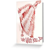 Red Joy Bell Greeting Card