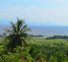an awe-inspiring Haiti landscape Sticker
