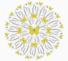 Butterfly Mandala/Yellow by Susan R. Wacker