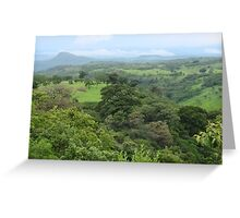 a large Haiti landscape Greeting Card