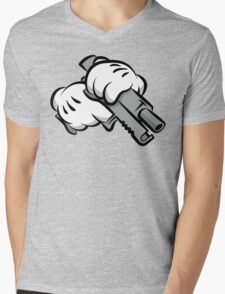 Gun Hands Mens V-Neck T-Shirt