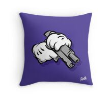 Gun Hands Throw Pillow