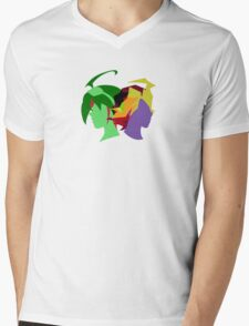 Arc V Ship Silhouette- Yuya/Shingo Mens V-Neck T-Shirt