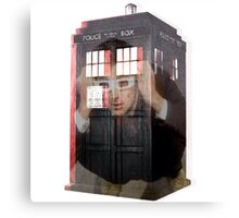 Doctor Who 3D TARDIS  Canvas Print