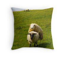 mating sheep Throw Pillow