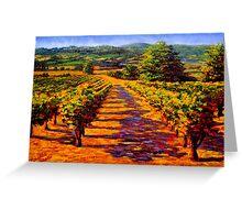 French Provençal Vineyard Greeting Card