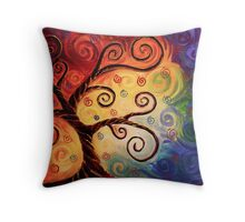 Twisted With Joy Throw Pillow