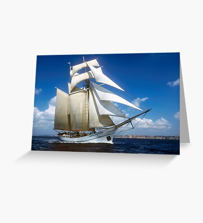 "Sailing: Schoner ""Sir Robert"" II - www.sir-robert.com Greeting Card"