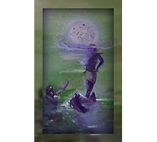 Pearl diving NATIVE lovers by moonlight Photographic Print