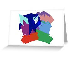 Arc V Ship Silhouette- Shun/Reiji Greeting Card