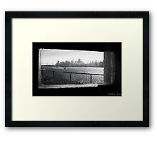 An Inmate's View - Alcatraz Framed Print