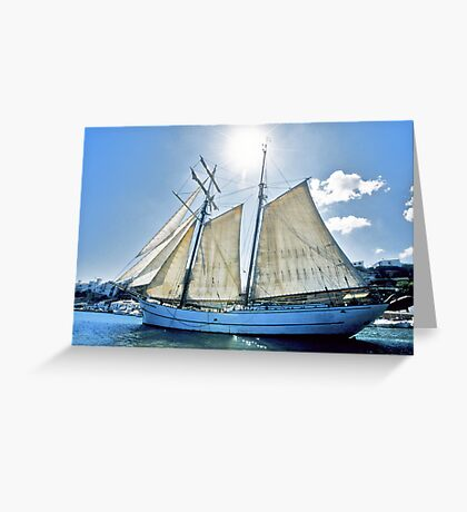 "Sailing: Schoner ""Sir Robert"" III - www.sir-robert.com Greeting Card"