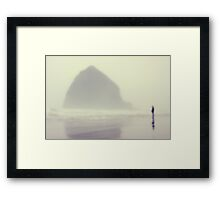 i saw you standing there Framed Print