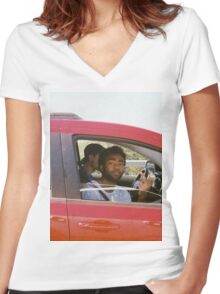 Childish Gambino Women's Fitted V-Neck T-Shirt