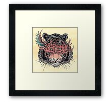 Masked Tiger Framed Print