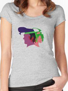 Arc V Ship Silhouette- Yuya/Gongenzaka Women's Fitted Scoop T-Shirt