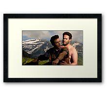 James Franco & Seth Rogen Framed Print