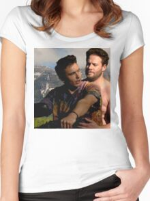 James Franco & Seth Rogen Women's Fitted Scoop T-Shirt